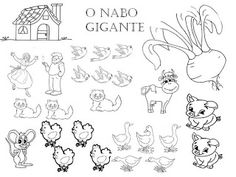 Cenas para ocupar os putos: Desenhos para pintar: o nabo gigante Bloodhound Dogs, Spanish Class, Coloring Pages, Peanuts Comics, Snoopy, Fictional Characters, School, Activity Books, Story Cubes