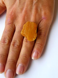 Amber ring, orange, raw, matte sterling Silver rail, genuine amber, modern design, for she, giftbox, シルバー リング,New, UNIQUE-Handmade von JewellerWithSoul auf Etsy