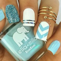 Unique blue and white chevron pattern nails design.A chevron pattern is often used to design nails because it is pretty, simple, and works for any occasion. In its essence, a chevron print is a sequence of V shape stripes in an inverted form. This print resembles a zigzag print. And actually, it is its variation. More inspo is waiting for you on our blog. Ready? #chevronpattern #chevronpatternnails #chevronnails #naildesigns #Bestsummernails