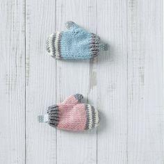 Moufles bébé Phildar tricot