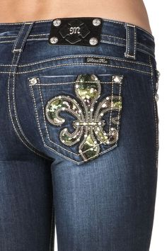 Miss Me Camouflage Sequins Fleur De Lis Boot Cut Jean Camo Skinny Jeans, Camo Jeans, Cowgirl Jeans, Denim Jeans, Camouflage, Miss Mes, Boating Outfit, Country Outfits, Western Outfits