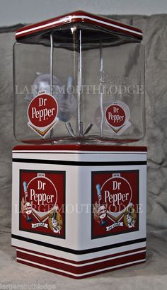 """Dr. Pepper"" Vintage Restored Gumball Machine"