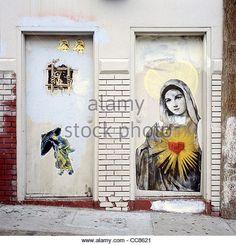 Street graffiti, Lower Haight, San Francisco, California, United States - Stock Image