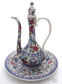 Iznik Design Ceramic Ewer Set