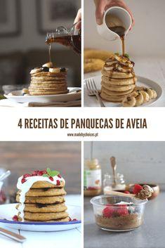 Cookbook Recipes, Vegan Recipes, Portuguese Recipes, Pancakes, Waffles, Coco, Love Food, Healthy Life, Cereal