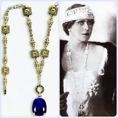 The enormous 478.68-carat Sri Lankan blue sapphire gets its name from the onetime owner of the gemstone Queen Marie of Romania (1875-1938), queen consort of King Ferdinand of Romania (1865-1927). The King purchased the gemstone set as a drop to a diamond necklace, in 1921 just one year before his coronation in October 1922, and presented it to Queen Marie, who later wore the splendid necklace which was a perfect match for the exquisitely crafted sapphire tiara which she wore for the…