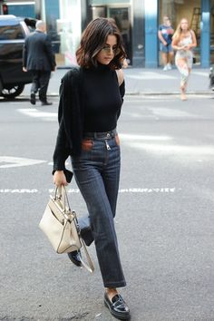 Hot Fashion Style Selena Gomez On Voque Magazine - Celebrity style - Street Style Outfits, Mode Outfits, Fashion Outfits, Womens Fashion, Fashion Trends, Zendaya Street Style, Fashion Ideas, Woman Outfits, Casual Street Style