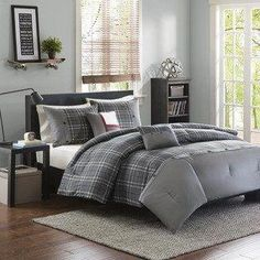 Teen boy bedding sets superheroes inspired sheets for those who are children at heart. In this teen bedding boy ideas can make your kids inspired Plaid Comforter, Grey Comforter Sets, Luxury Bedding Sets, King Comforter, Queen Bedding Sets, Intelligent Design, Full Duvet Cover, Duvet Cover Sets, Teen Boy Bedding Sets
