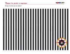COULEURS papier noir decoration pirate à imprimer - decoration pirate - Bricolages pirates enfants – Momes.net