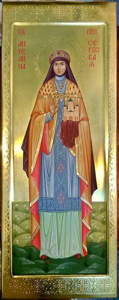 St. Angelina of Serbia by Marina Steblina (Марина Стеблина) of the Ukraine