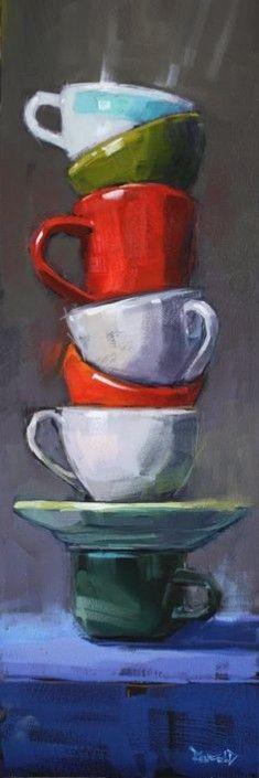 Cathleen Rehfeld • Large Original Oil Paintings: Balance Series : Stack #1 – sold