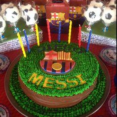 Barca! Soccer Party table by Art de Chocolat TX