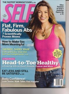 February 2006 cover with Ellen Pompeo Drama Tv Shows, Where Do I Go, Dark And Twisty, Fast Workouts, Ellen Pompeo, Patrick Dempsey, Meredith Grey, Glamour Magazine, Shiny Hair