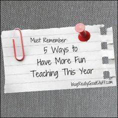 5 Ways to Have More Fun Teaching This Year