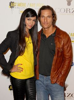Matthew Mcconaughy & his gorgeous wife.  #he is super hot but she also is gorgeous!