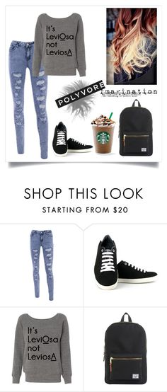 """""""Sem título #148"""" by giovannacarlamalik ❤ liked on Polyvore featuring Vegetarian Shoes, Herschel and DOMESTIC"""