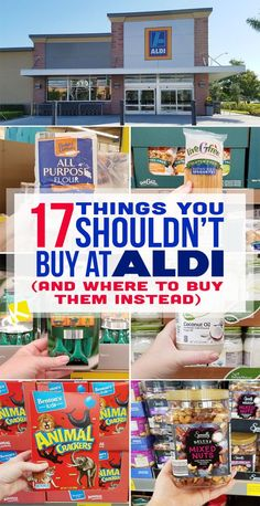 """Even though ALDI doesn't accept coupons, their high-quality house brand """"knockoffs"""" keep my kitchen stocked between promotions — sometimes at half the cost of brand names! But does ALDI always beat. Aldi Grocery Store, Aldi Recipes, Aldi Meal Plan, Diy Makeup Storage, Save Money On Groceries, Shopping Hacks, Aldi Shopping List, Store Hacks, Cool Things To Buy"""
