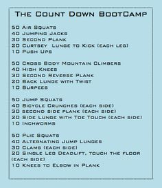 The Countdown Boot Camp
