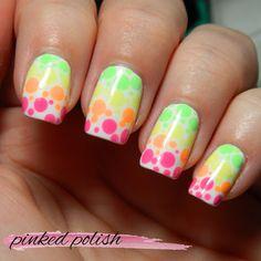 Pinked Polish: Neon Dotted Mani