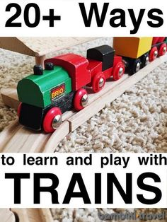 25+ Train Ideas for Kids | train unit ideas for toddlers and preschoolers | Bambini Travel