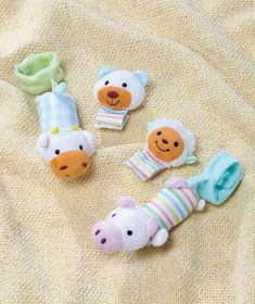 Set of 4 Infant Plush Rattles