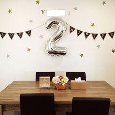 おしゃれで簡単!誕生日の飾り付けアイデア特集 | RoomClip mag | 暮らしとインテリアのwebマガジン