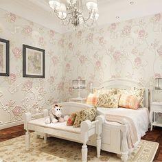 rose flower super 3d wall murals wallpaper  for warmth bedroom wall decor  papel de parede rosas #Affiliate