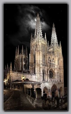 Burgos Cathedral - Castile and León, Spain Cathedral Basilica, Cathedral Church, The Places Youll Go, Places To See, Beautiful Buildings, Beautiful Places, Sacred Architecture, Spain And Portugal, Pamplona