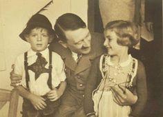 Adolf Hitler with boy and girl