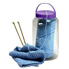 Yarn-Tainers Storage keeps balls or skeins of yarn contained and clean. Perfect for traveling and general storage.
