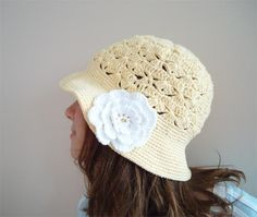 A personal favorite from my Etsy shop https://www.etsy.com/listing/71552857/hand-crochet-pastel-yellow-cotton-cloche