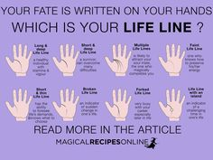 Initiation to the Art of Omens - the Life Line Basic Palmistry. Initiation to the Art of Omens - the Life Line Wiccan, Witchcraft, Magick, Palm Reading Charts, Palm Reading Right Hand, Palm Reading Lines, Palmistry Reading, Deeper Life, Spirituality