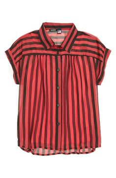Zunie Stripe Top (Big Girls) available at #Nordstrom