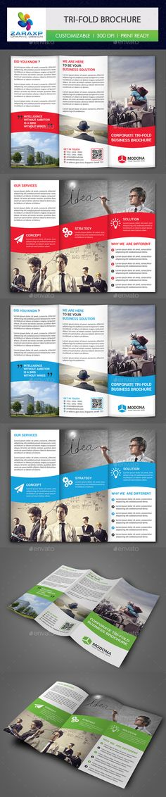 Corporate Tri-fold Brochure Template PSD #design Download: http://graphicriver.net/item/corporate-trifold-brochure/14453193?ref=ksioks