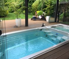 Another shot of this great all season swim spa install!