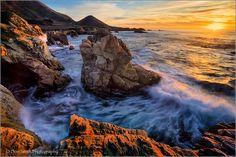 Don Smith Photography   -    Winter Sunset, Garapatta State Park, Big Sur Coast, California