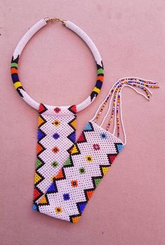 White African zulu necklace African necklaces Long tassel   Etsy Seed Bead Earrings, Beaded Earrings, Tassel Necklace, Necklaces, African Necklace, African Jewelry, Zulu, Beaded Jewelry Patterns, Bead Jewelry