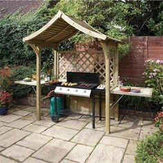 Party Arbour Barbeque Table Seater Wood Bench Natural Timber Fire Retardant New | eBay UK
