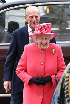 Queen Elizabeth II and Prince Philip attending the Commonwealth day observance service at Westminster Abbey on March 10, 2014