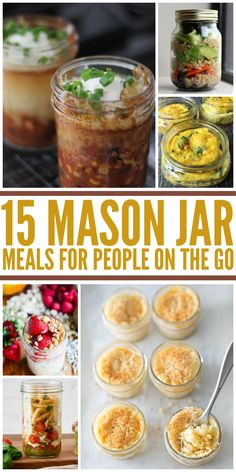 Recipes Breakfast Mason Jars 15 Amazing Mason Jar Meals to Eat on the Go Mason Jar Lunch, Mason Jars, Mason Jar Meals, Meals In A Jar, Mason Jar Recipes, Meals To Go, Mason Jar Breakfast, Meals For One, Breakfast Ideas