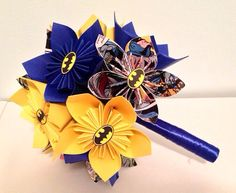 Superhero Wedding Bouquets Your Choice of Hero by NewZLynn on Etsy, $50.00