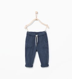 Drawstring trousers-Trousers-Baby boy (3 months - 3 years)-KIDS | ZARA United States