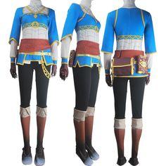 Women Legend of Zelda Breath of the Wild Princess Zelda cosplay halloween costume outfit props christmas birthday gift