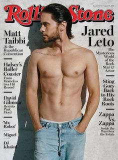 Jared Leto on the August 11, 2016 cover.