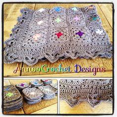 Free Granny Square Patterns | Annoo's Crochet World: Color Pop Granny Blanket Free Pattern