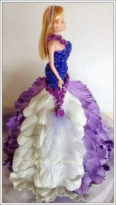 Artesanato e variedades  : Boneca Vestido em EVA