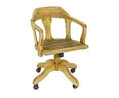Sedia in olmo con rotelle Stockton - 57x57x88 cm