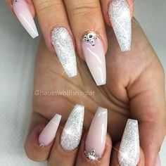 Wedding Nails-A Guide To The Perfect Manicure – Page 2161478782 – NaiLovely Gorgeous Nails, Love Nails, Pretty Nails, Fun Nails, French Nails, Sculpted Nails, Nagel Hacks, Formal Nails, Bridal Nails