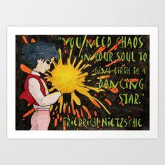 Howl Meets Nietzsche Art Print by Feral Doe - $15.00