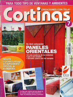 Cómo hacer cortinas Más Cross Stitch Books, Bargello, Book Crafts, Craft Books, Decoration, Window Treatments, Shabby Chic, Art Deco, Curtains